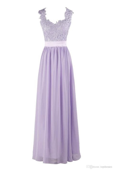 Hot Selling Purple Lilac Lavender Bridesmaid Dresses Lace
