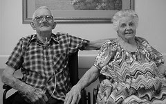 Pops & Grandmother in bw