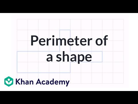Perimeter Of A Shape Video Perimeter Khan Academy