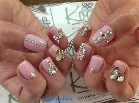 Simple Pink Wedding Nail Art Designs & Ideas 2014