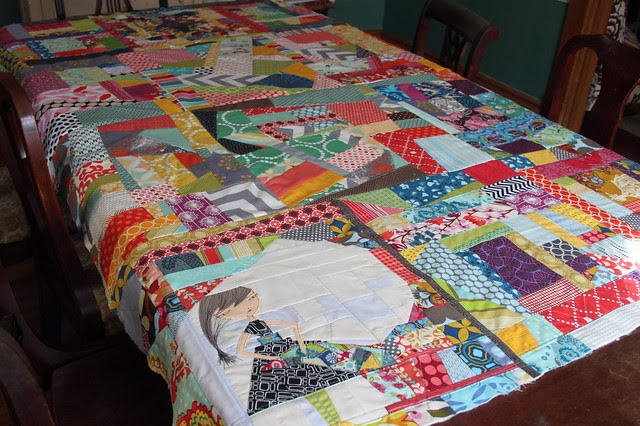 Scrappy Improv Quilt Top