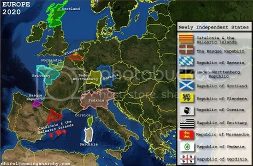 secessionist europe map