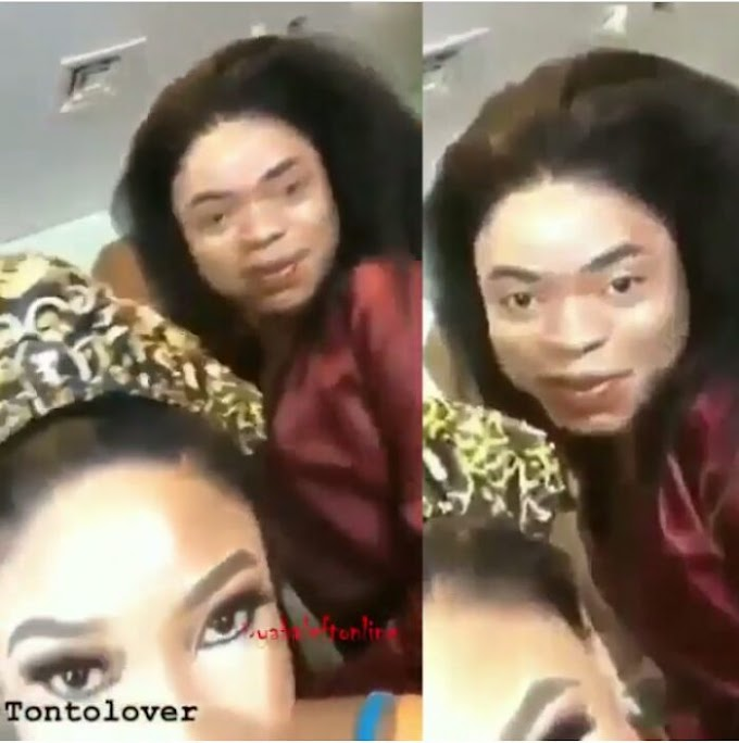 [GOSSIP] Bobrisky Shows His Real Face In A New Video With Tonto Dikeh