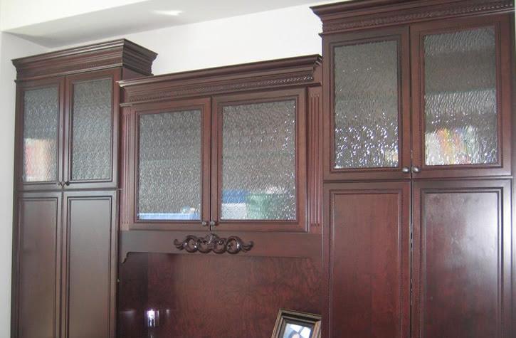 Calgary Pattern Frameless Glass Cabinet Doors   {AC Glass ...