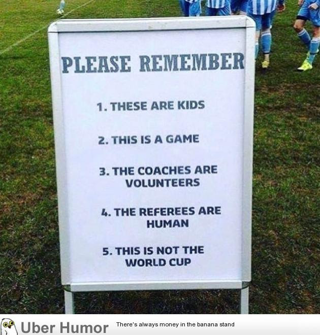 Advice For Parents On A Kids Soccer Game Funny Pictures Quotes