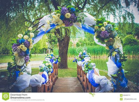 Wedding Happiness Gate Decoration Garden With Flowers