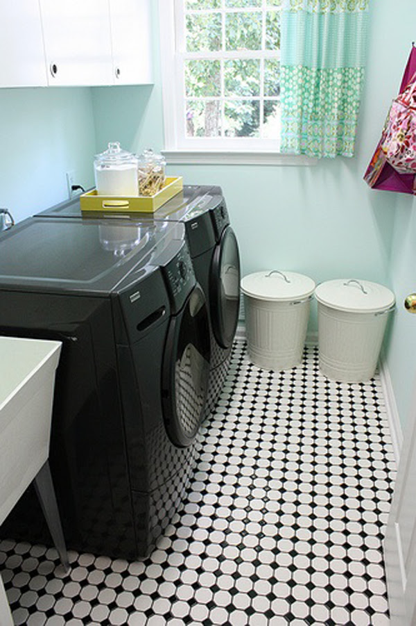 Black And White Laundry Room Ideas Home Design And Interior
