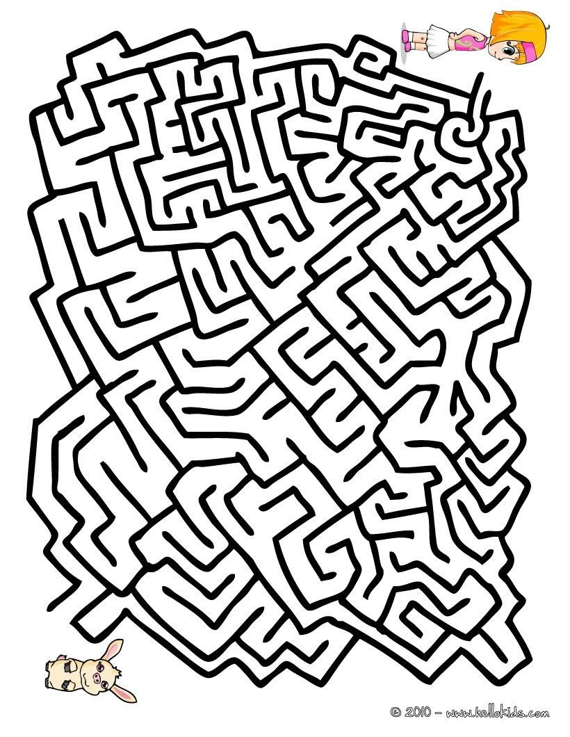 15 labyrinth ausmalbilder kostenlos  top kostenlos