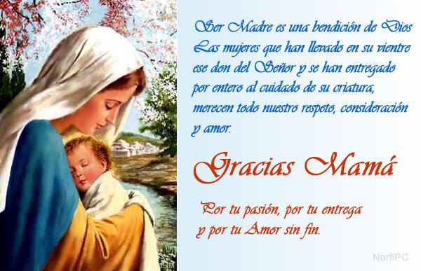 Imagen de felicitación cristiana para el Día de las Madres