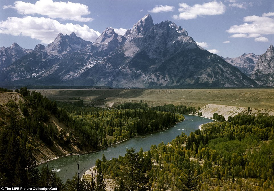 Better than skyscrapers: The Snake River with the incredible Grand Tetons casting a striking shadow in the background