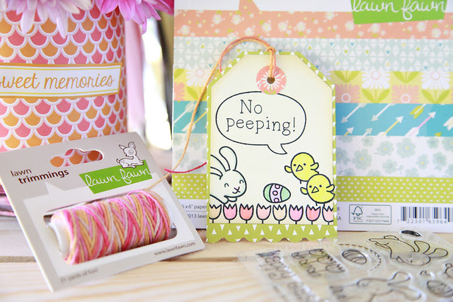 No Peeping! Easter Tag