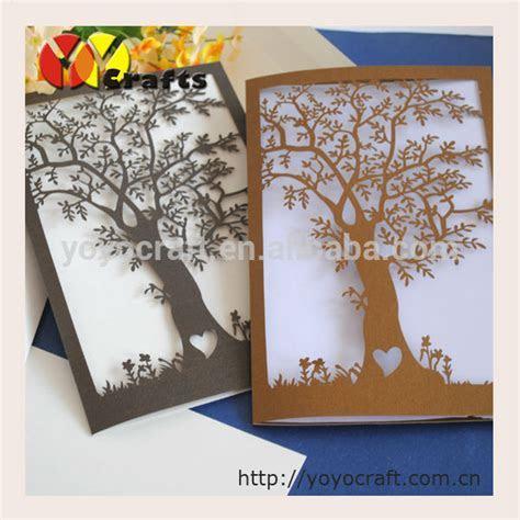 Cheap indian wedding invitation cards handmade tree shape
