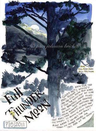 Full Thunder Moon by PJBee