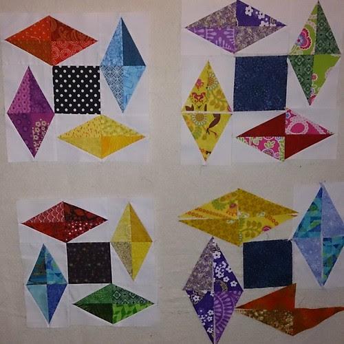 box Kite quilt layout