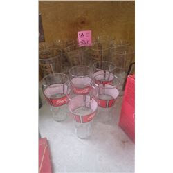 18 Coca Cola Flare Glasses Featuring Design From Turn Of The