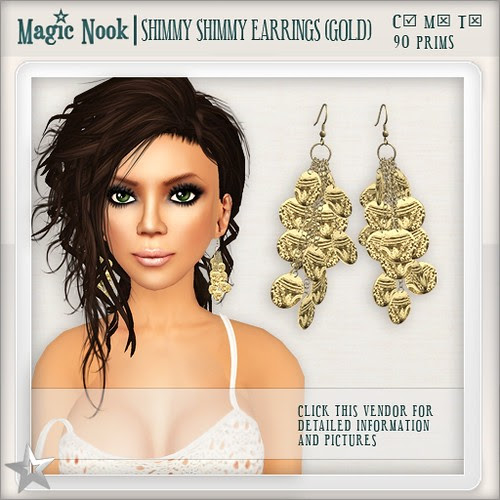 [MAGIC NOOK] Shimmy Shimmy Earrings (Gold)