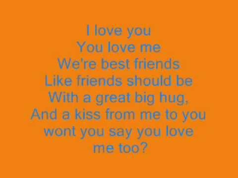 I Love You You Love Me Lyrics Barney Song