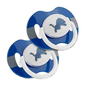 NFL Detroit Lions 2-Pack Team Logo Pacifiers