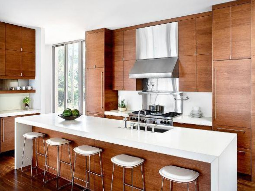 Contemporary White And Wood Kitchen Designs Home Architec Ideas