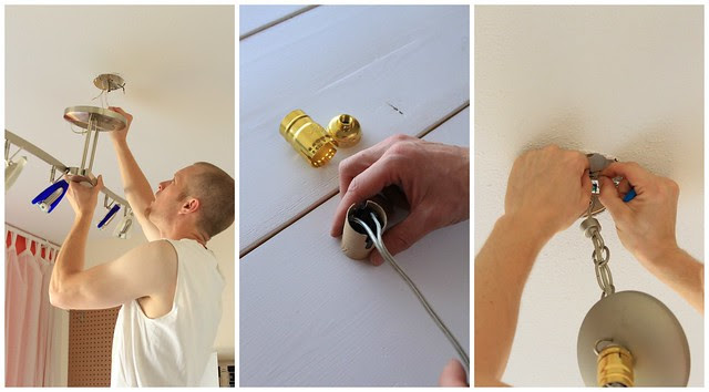 Preparing to Hang a Tissue Paper Light