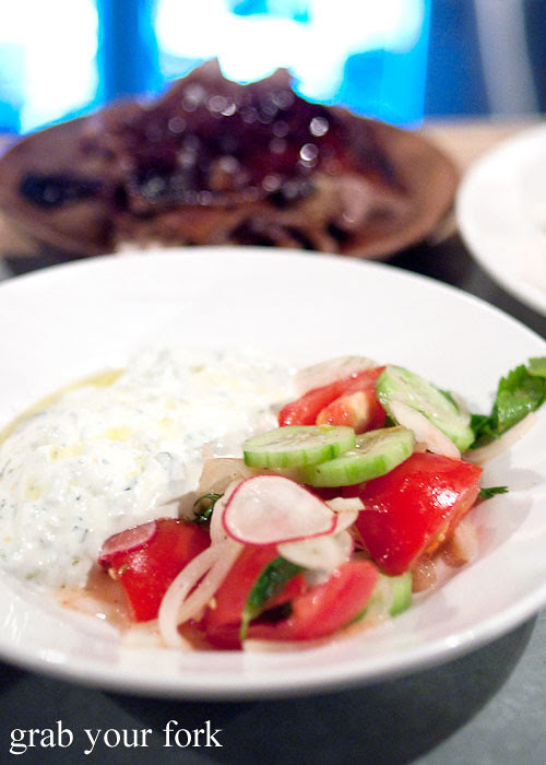 yoghurt and village salad at freda's chippendale