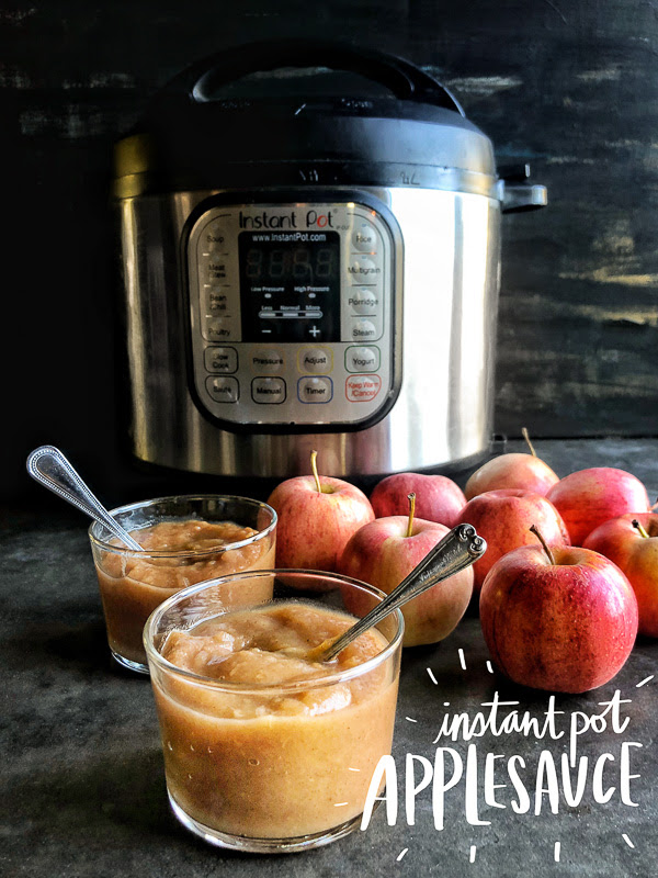 When life gives you too many apples, make Instant Pot Applesauce. It's a great addition to your meal prep arsenal. Recipe on Shutterbean.com!