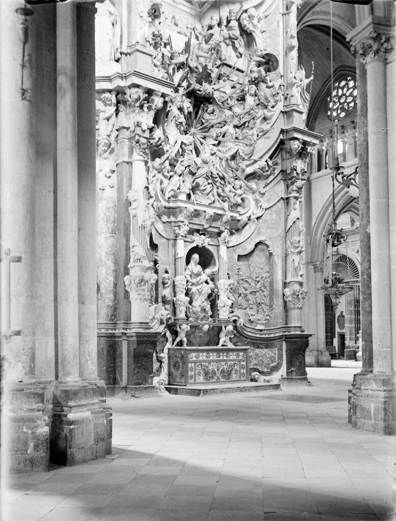 Transparente de la Catedral en los años 20. Detalle de una Fotografía de Otto Wünderlich. © Fototeca del Patrimonio Histórico