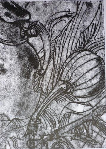 life  mandolin monoprint printmaking