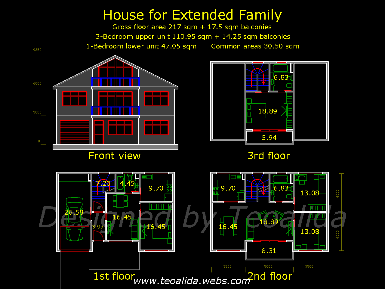 House for extended family floorplan