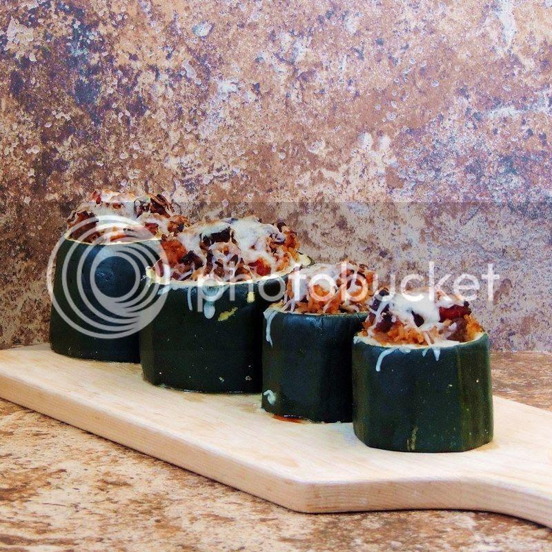Sausage Stuffed Zucchini Cups