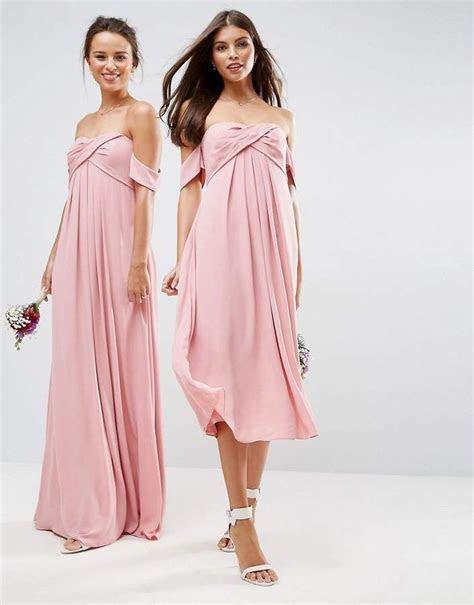 Asos DESIGN Bridesmaid bandeau tie front midi dress #