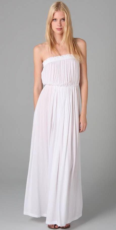 Long white sundresses