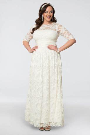 Lace Illusion Plus Size Wedding Gown   David's Bridal