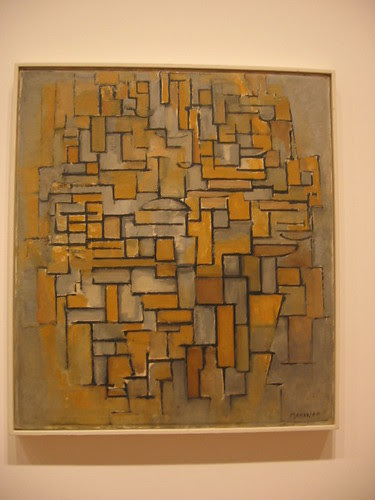 Mondrian's Composition in Brown and Gray