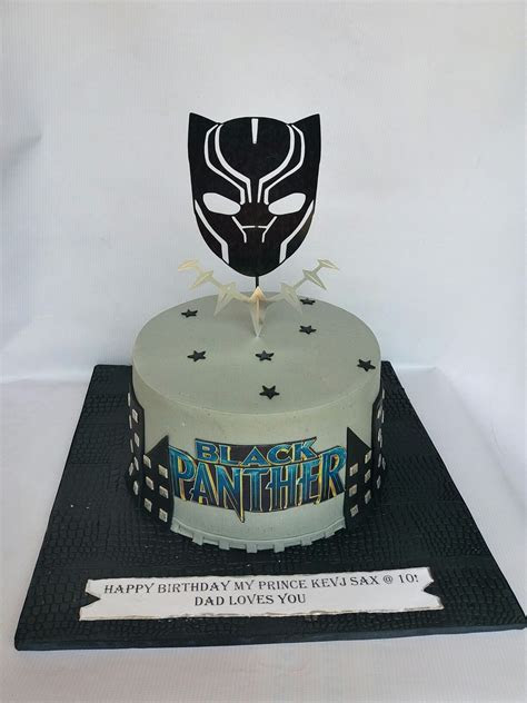 Black Panther cake by Diya's Treats   cakes in 2019