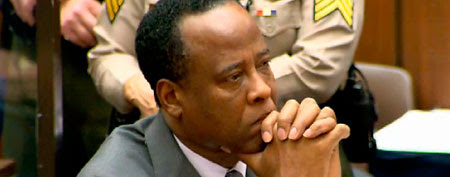 Dr. Conrad Murray at his sentencing (Pool/Getty Images)