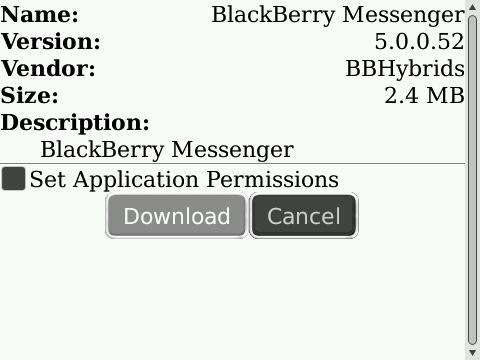 BlackBerry Messenger 5.0.0.52