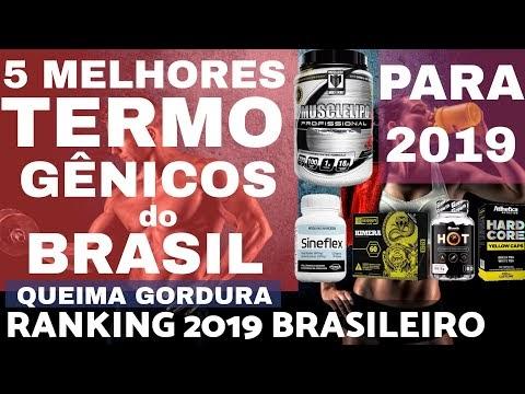 5 MELHORES TERMOGENICOS do BRASIL para 2019 Ranking Brasileiro Melhores Queimadores Gordura Brasil