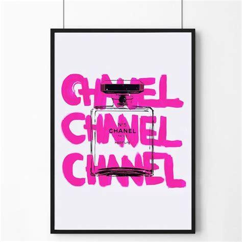 poster poster pink chanel logo  perfume original