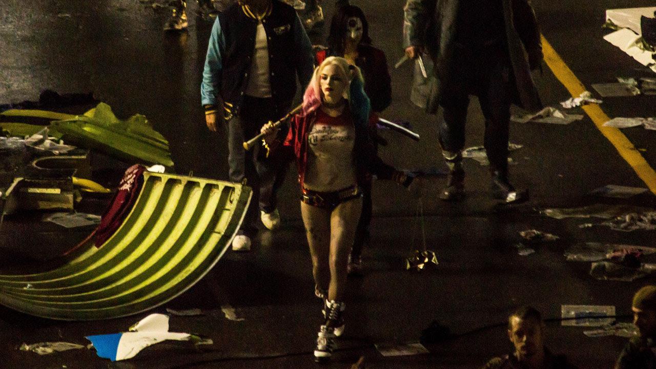 Suicide Squad Set Photo (Katana, Margot Robbie, Harley Quinn)