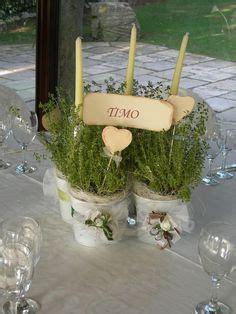 Allestimento aperitivo in cantina con piante aromatiche #