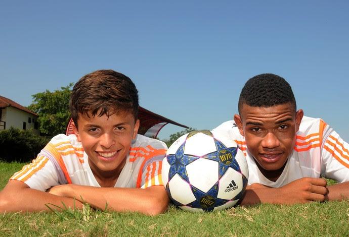 Athirson e Patrick geração 2000 Flamengo (Foto: André Durão/GloboEsporte.com)