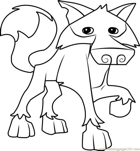 wolf animal jam coloring page  animal jam coloring
