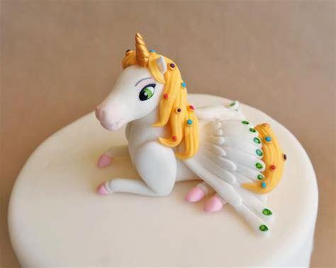 Fondant unicorn cake topper fondant horse pegasus topper