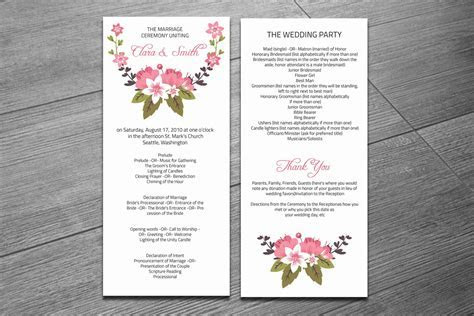 Wedding Ceremony Program Template ~ Invitation Templates