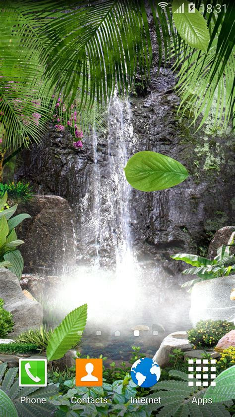 jungle waterfall  wallpaper apk gallery