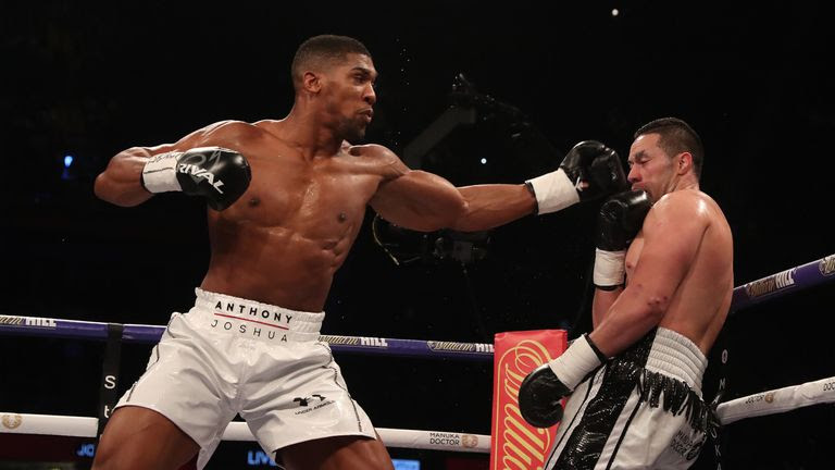 Joshua's accurate jab forced Parker on the back foot