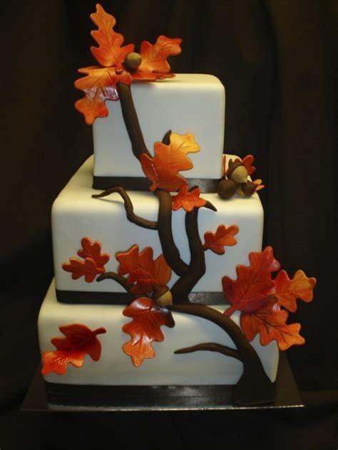 Fall Elegance! Square Wedding Cake   CakeCentral.com