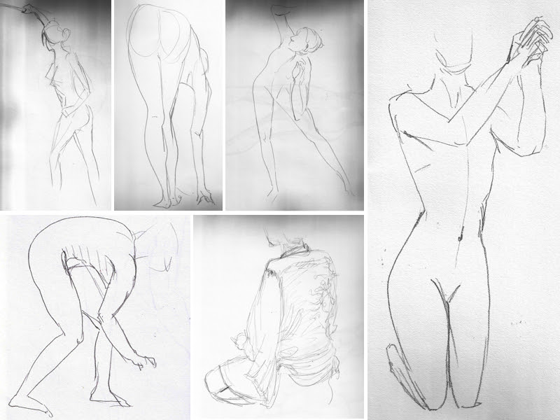 MJ SKETCHBOOK | Sandy Hill Life Drawing Workshop - Caitlin