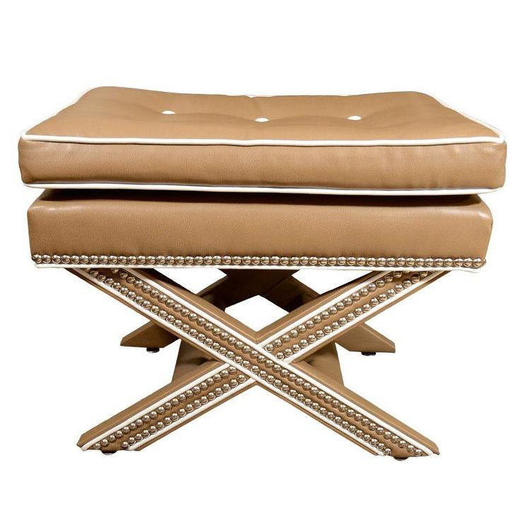 X Bench with Nail Heads